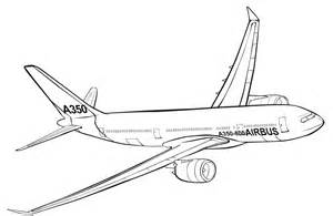 The Airbus A350 Coloring Pages For Kids Print Or Download sketch template