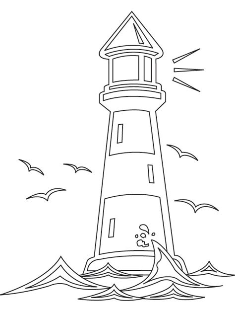 lighthouse template craft lighthouse worksheets printable light house coloring