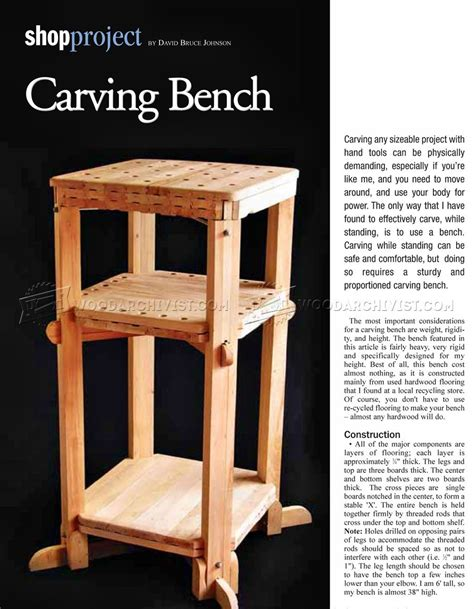 wood carving benches wood carving bench plans woodarchivist