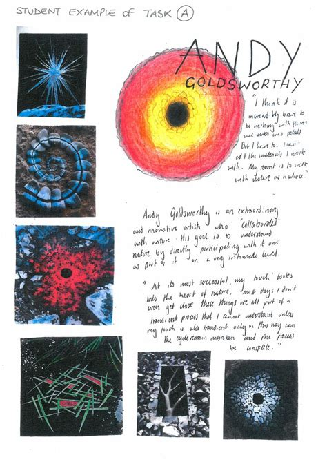 biography as an art form student support booklet natural forms artist research