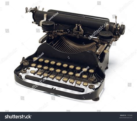 old fashioned corona typewriter stock photo 1755948