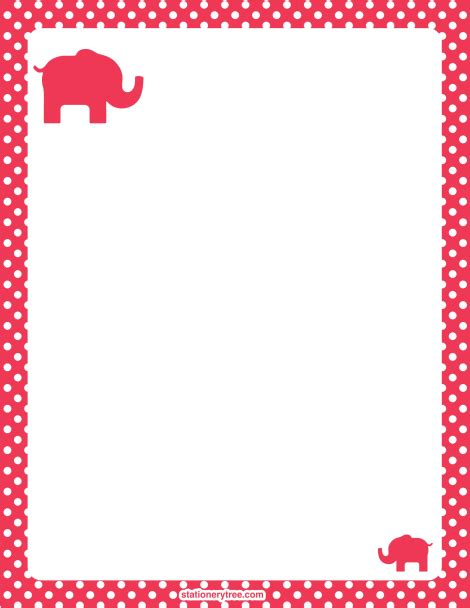 printable elephant stationery printable elephant stationery and writing paper free pdf