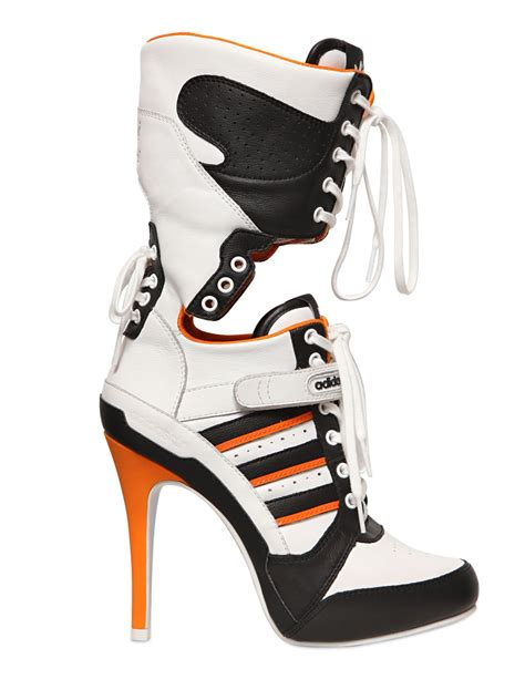 jeremy scott  adidas mm js high heel leather boots