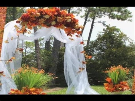 garden arbor plans autumn weddings pics fall wedding arch decoration ideas youtube