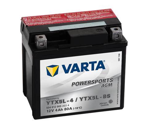Motorrad Batterie 25ah by Varta Agm Motorrad Roller Batterie 12v 4 Ah Etn
