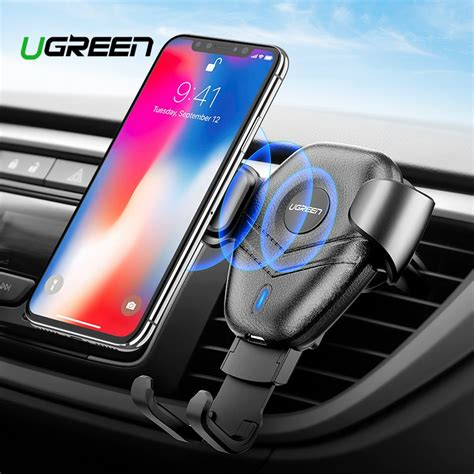 ugreen car mount qi wireless charger for iphone xs x xr 8 fast wireless charging for samsung