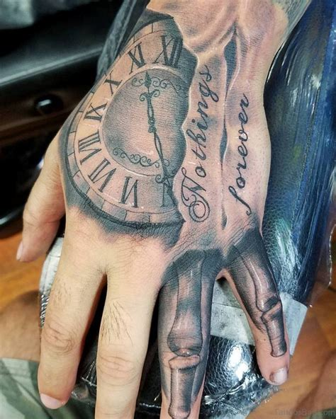 new hand tattoos designs 47 excellent clock tattoos for