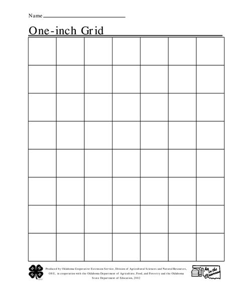 Printable Graph Paper 1 Inch | 5 best images of square inch grid paper printable 1 inch