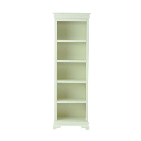home decorator home depot home decorators collection louis philippe polar white open bookcase 8328100560 the home depot
