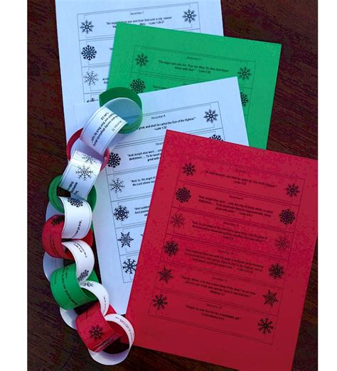 printable paper advent calendar paper chain christmas advent printables 4 mom