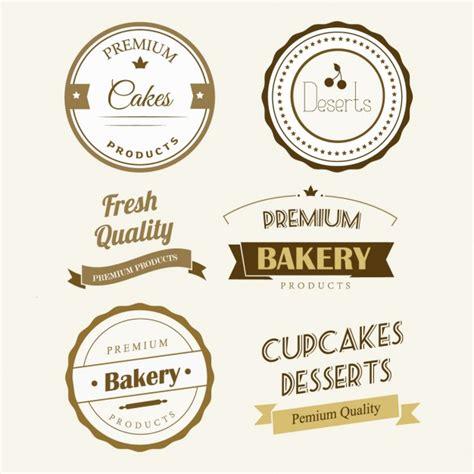 Stiker Label Nama Segi Empat Logo Tag bakery label vector free