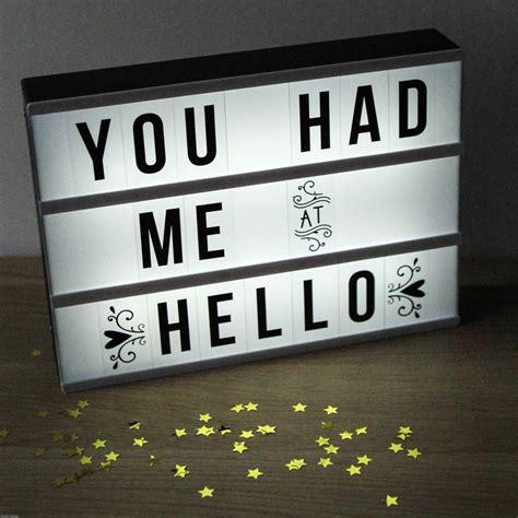 light up cinema box cinema lightbox customisable letter sign by berylune