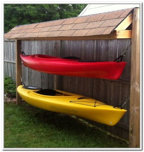 how to build a boat storage shed outdoor kayak storage ideas kayak canoe pinte