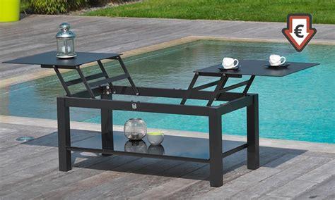 table basse exterieur 65 tables basses d ext 233 rieur avec plateau relevable groupon