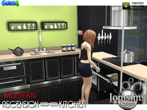 Ascension Kitchen by Modern Ascension Kitchen By Jomsims At Tsr 187 Sims 4 Updates