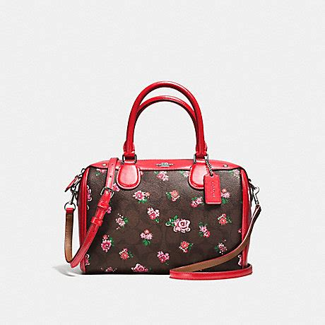 Coach Mini Floral Logo Print Coach F57534 Mini Satchel In Floral Logo Print