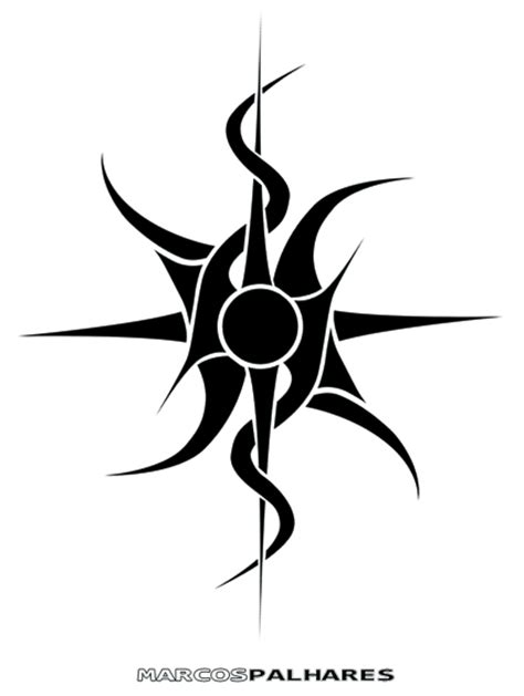 sun tribal tattoo a to draw and on