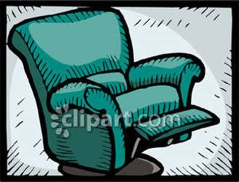 Recliner Clipart by Upholstered Recliner Royalty Free Clipart Picture