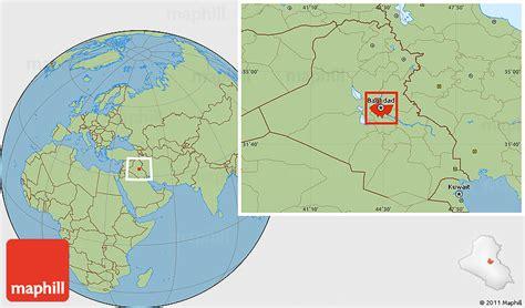 baghdad on a map savanna style location map of baghdad