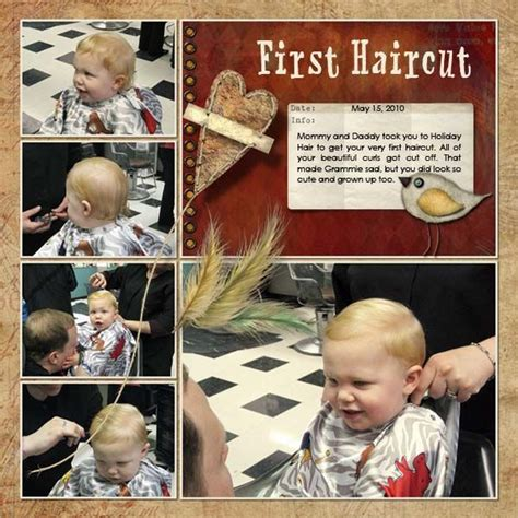 scrapbook layout for first haircut 17 best images about boys scrapbook on pinterest boys