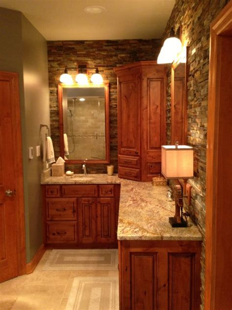rustic master bath callier  thompson