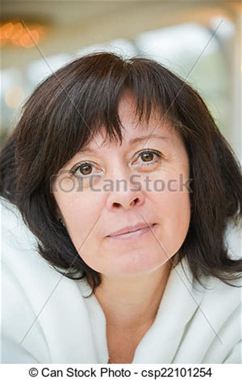 dark hair on middle aged women stock images of middle aged woman brown eyes is sitting in
