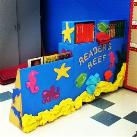 the sea classroom theme decoration reader s reef themed reading nook the sea