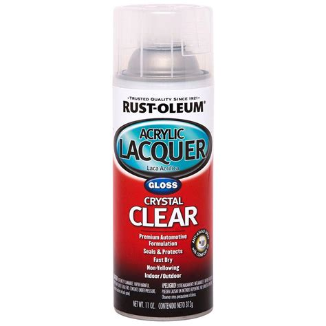 spray paint home depot rust oleum automotive 11 oz clear gloss acrylic lacquer