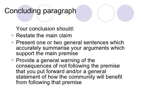how to write a conclusion to a paper conclusion paragraph for a argumentative essay www