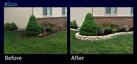 before and after photos of quality landscaping services