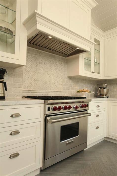 herringbone marble backsplash marble herringbone backsplash transitional kitchen arch interiors