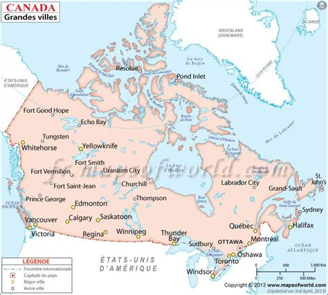 map of canada major cities map showing major cities in canada canadacities major