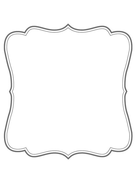 fancy card shape template printable bracket frame clip 56