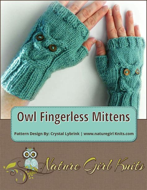 english knitting pattern for mittens knitting pattern owl cable knit fingerless mittens pdf