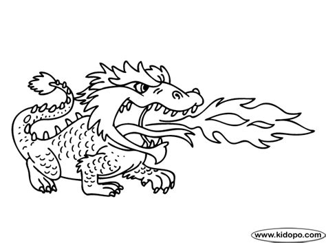 fire breathing dragon 4 coloring page fire dragon