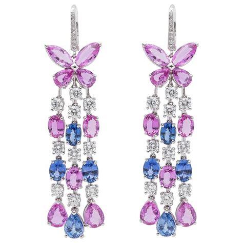 sapphire chandelier earrings graff sapphire gold chandelier earrings for sale