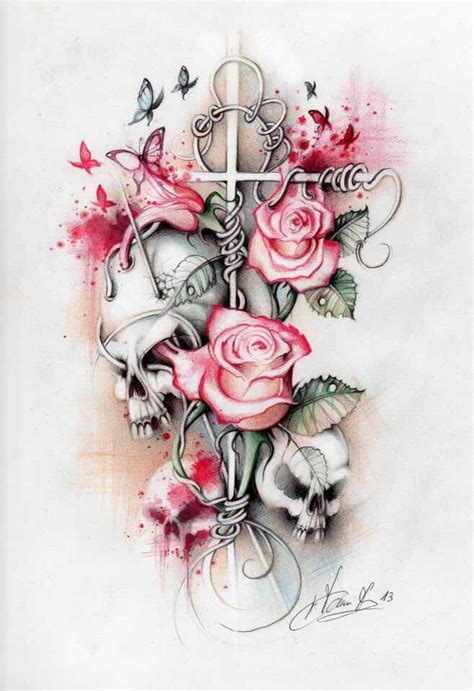 skull and roses tattoos pictures more skulls and roses chicano lowrider