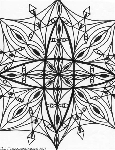 printable kaleidoscope coloring pages for adults kaleidoscope coloring pages for adults coloring home
