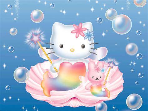 wallpaper hello kitty pink cute hello kitty bunny bubbles mermaid cute pink hd wallpaper