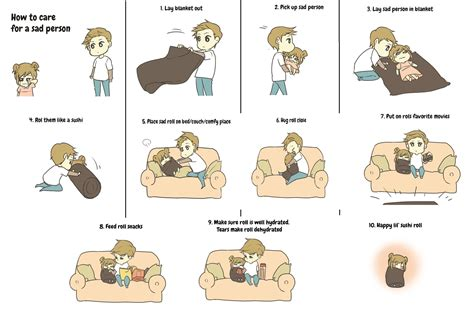 how to care for human how to care for a sad person i wanna rofl