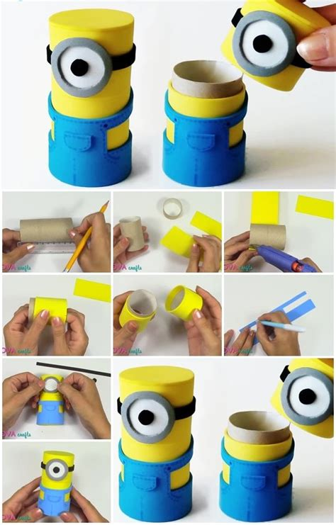 how to make crafts how to make minions box from cardboard usefuldiy