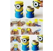 How To Make Minions Box From Cardboard Tube  UsefulDIYcom