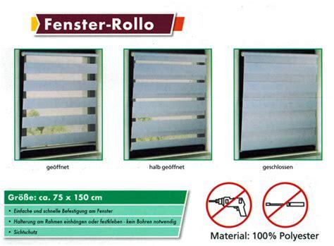 Sichtschutz Fenster Wasserfest by Duo Fenster Rollo Div Gr 246 223 En Ohne Bohren Jalousie