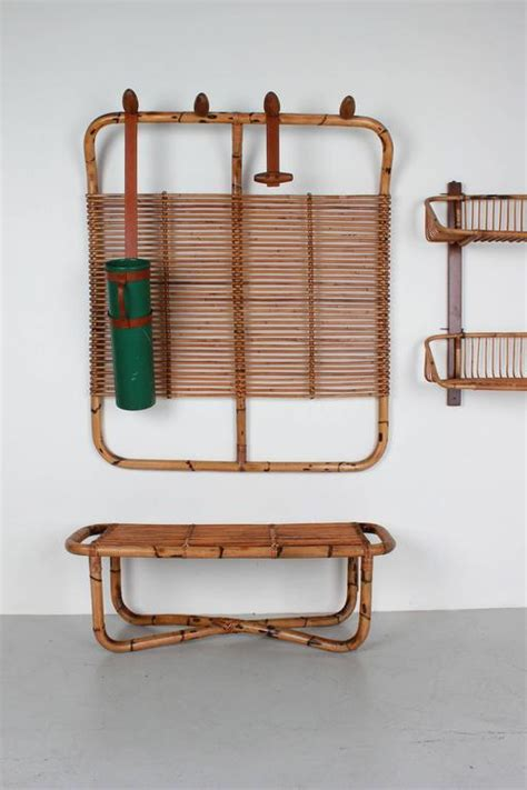 Coat Racks With Bench by Bamboo Coat Rack Bench And Shelf For Sale At 1stdibs