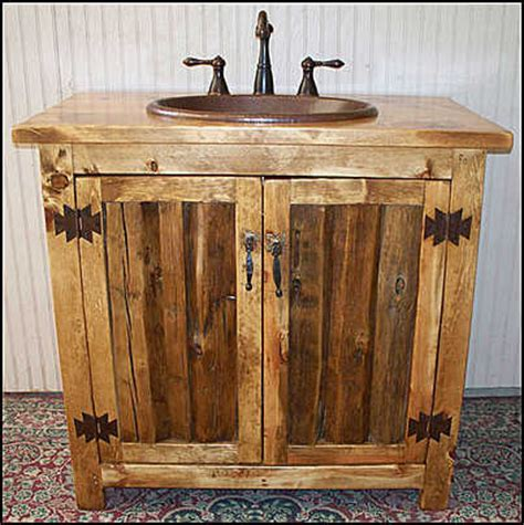 rustic bathroom furniture ms 1371 36 rustic split log bathroom vanity by cantonantiques