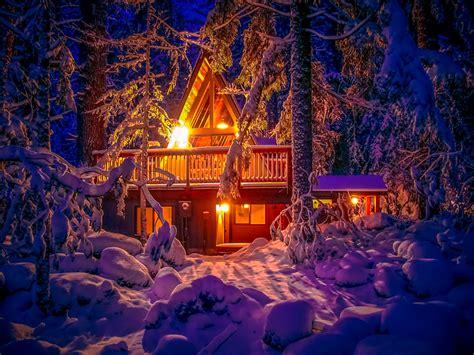 Exceptional Window Sill Christmas Lights #4: Snowy-winter-night_cozy-light_cabin.jpg