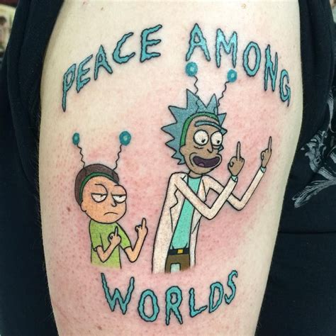 rick rocks tattoo did a rick and morty today tattoos