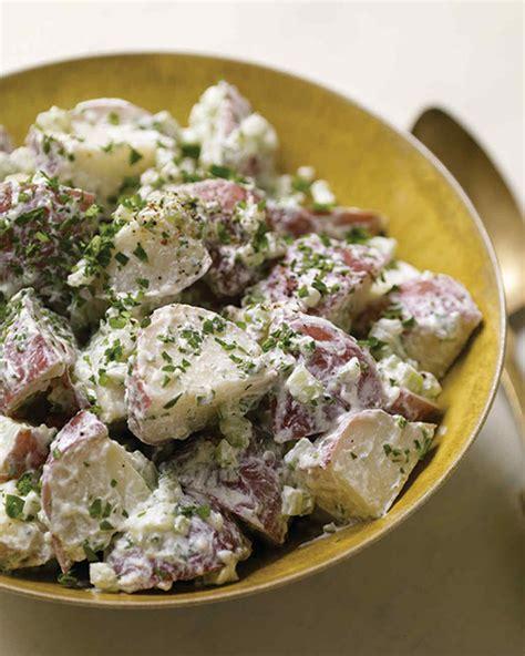 heat of the summer potato salad recipe beachpeach warm potato salad with goat cheese