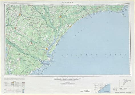 topographic map of carolina east of georgetown topographic maps sc usgs topo