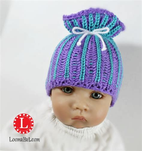 paper bag hat knitting pattern loomahat com free loom knitting patterns and video tutorials